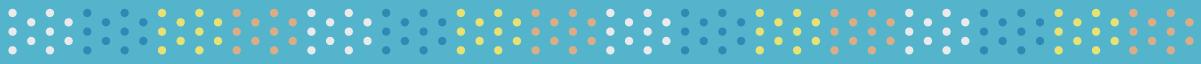 カラフルな水玉の無料罫線 2