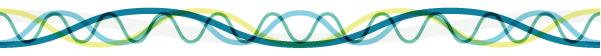 バイオグラフのような波線の罫線素材
