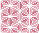ツートンカラーの麻の葉模様の罫線素材