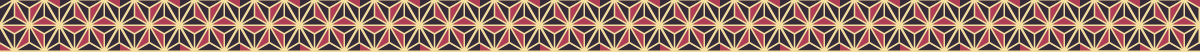 ツートンカラーの麻の葉模様の罫線素材 2