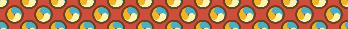 カラフルな巴模様のパターン素材 1