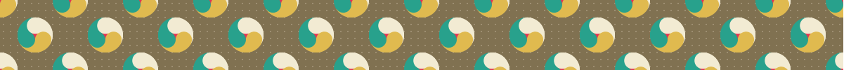 カラフルな巴模様のパターン素材 2