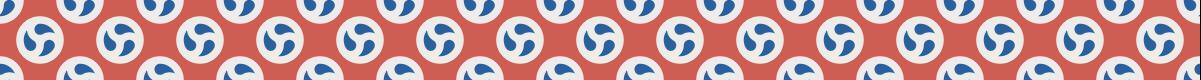 シンプルな巴模様のパターン罫線素材 3