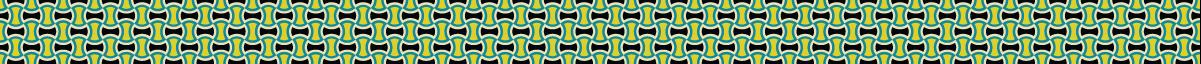 カラフルな分銅繋ぎ模様のパターンライン素材 2