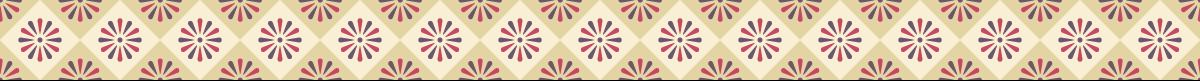 和風の罫線模様 菊と格子の組み合わせライン素材