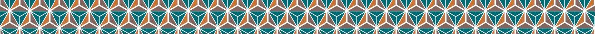 カラフルな麻の葉模様のライン素材