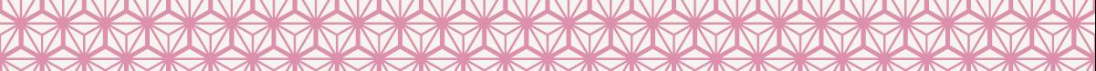 和風の罫線模様 線が太めの麻の葉模様のライン素材