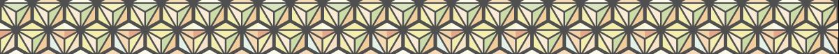 カラフルな麻の葉模様のライン素材 3