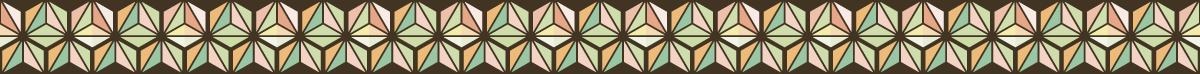 三角の組み合わせの罫線素材