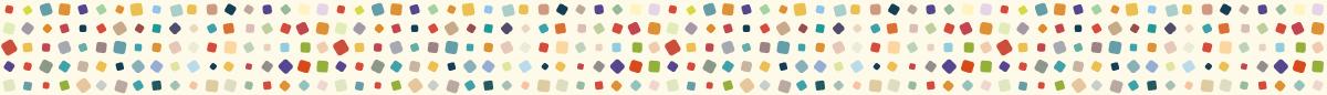 カラフルな四角のマスキングテープライン