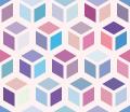 カラフルな箱っぽいパターンのライン素材