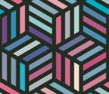 カラフルな箱のパターン無料素材