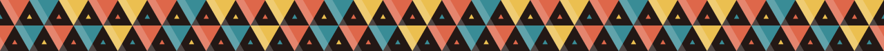 カラフルな三角の組み合わせマスキングテープライン 4