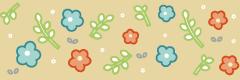 葉っぱの罫線ライン